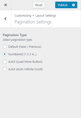 configure pagination settings travel bookingpro