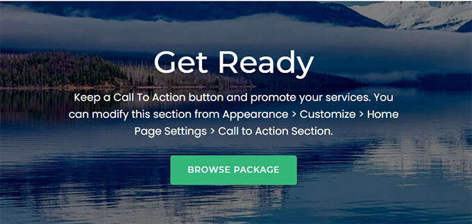 Example of Call to action button