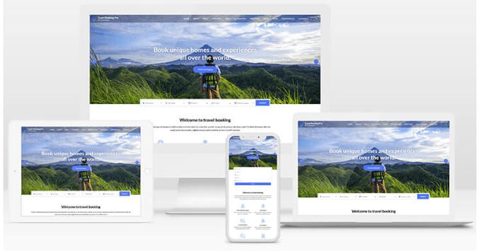 responsive design of WP Travel Theme