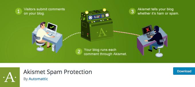 Akismet Spam Protection WordPress Theme