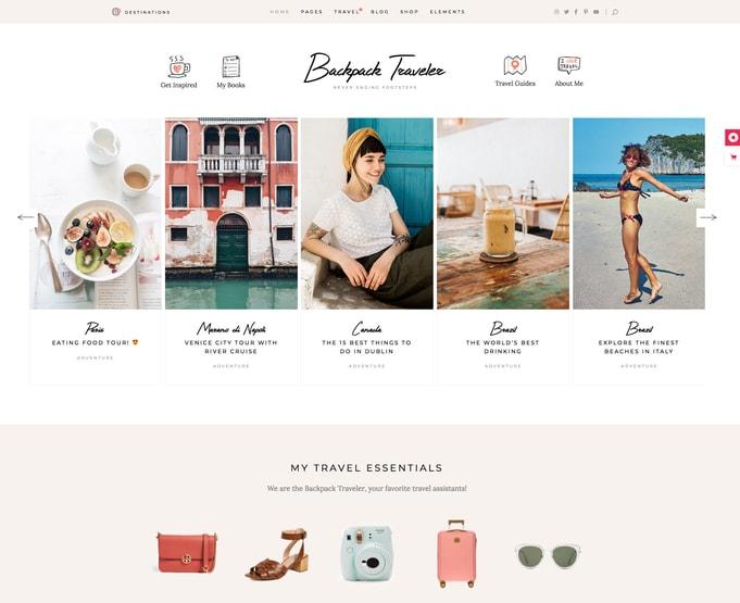 Backpack Traveler WordPress Theme