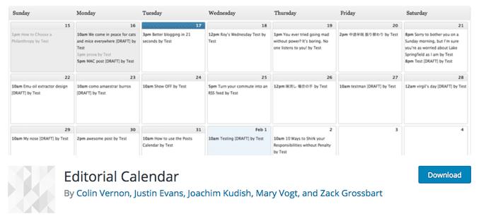Editorial Calendar WordPress Theme (1)