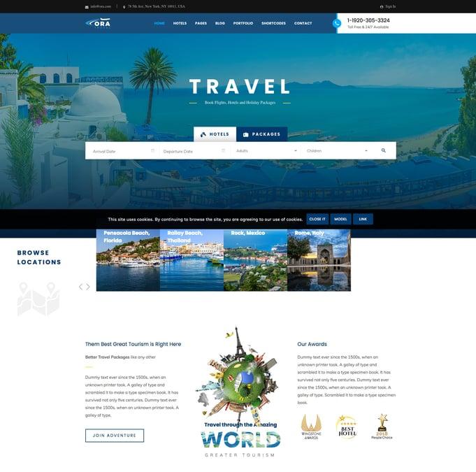 Ora Travel WordPress Theme
