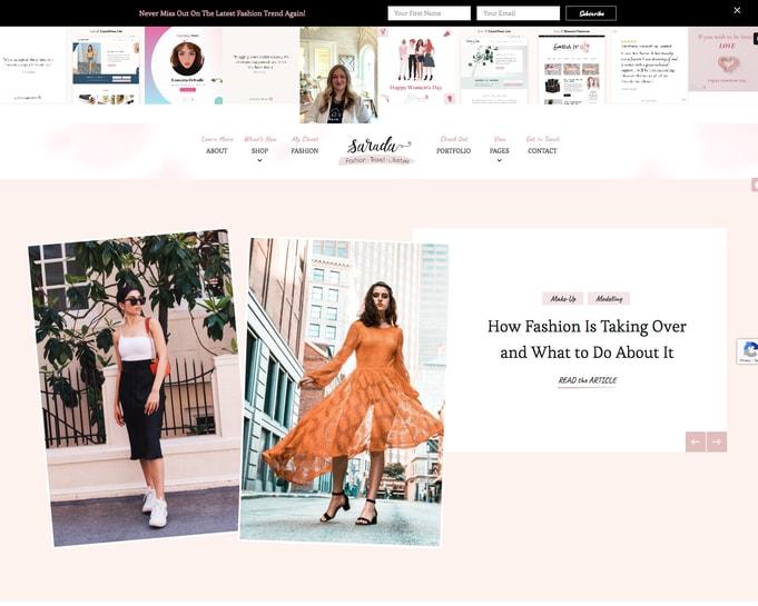 Sarada WordPress Theme