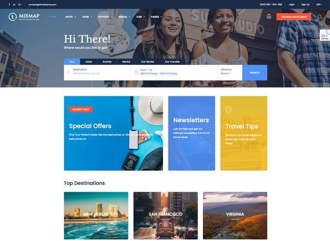 Traveler WordPress Theme