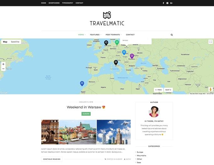 Travelmatic WordPress Theme