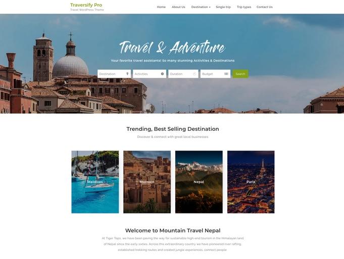 Traversify Pro WordPress Theme