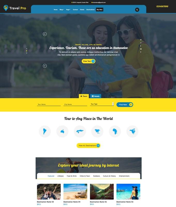 VW Travel Pro WordPress Theme