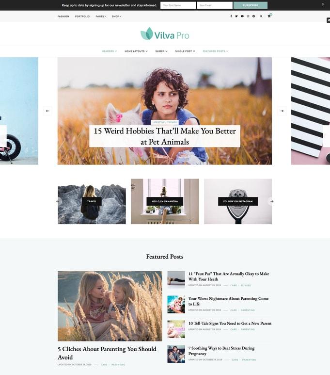 Vilva Pro WordPress Theme