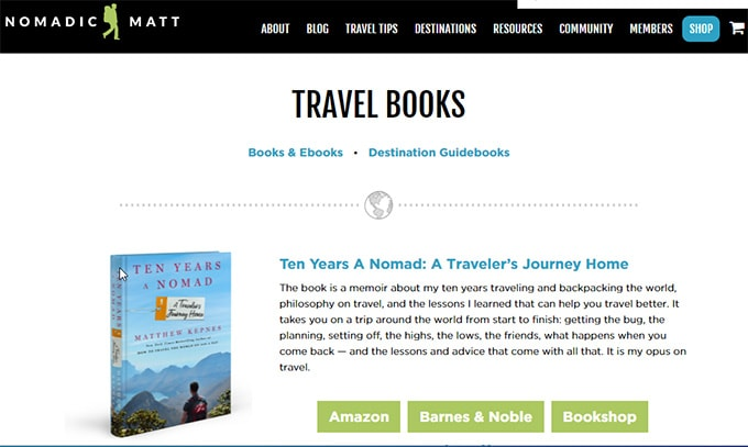 Make money from travel blog -Product Offering
