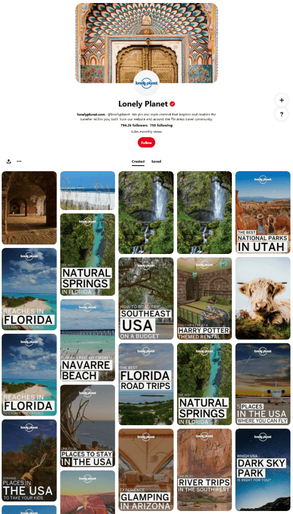Lonely Planet Pinterest