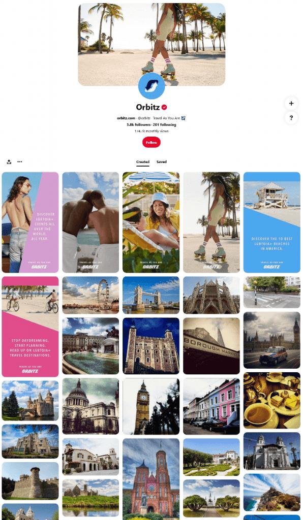 Orbitz Pinterest