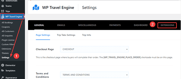 advanced itinerary builder settings