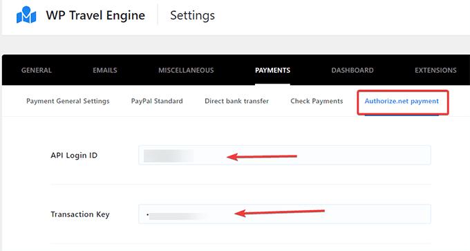 authorize.net Payment Gateway extension Settings