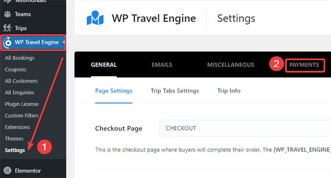 WP Travel Engine Payments Settings
