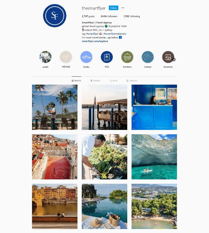 SmartFlyer Instagram Profile