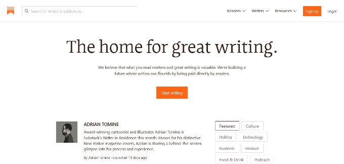 Substack Blogging Platform