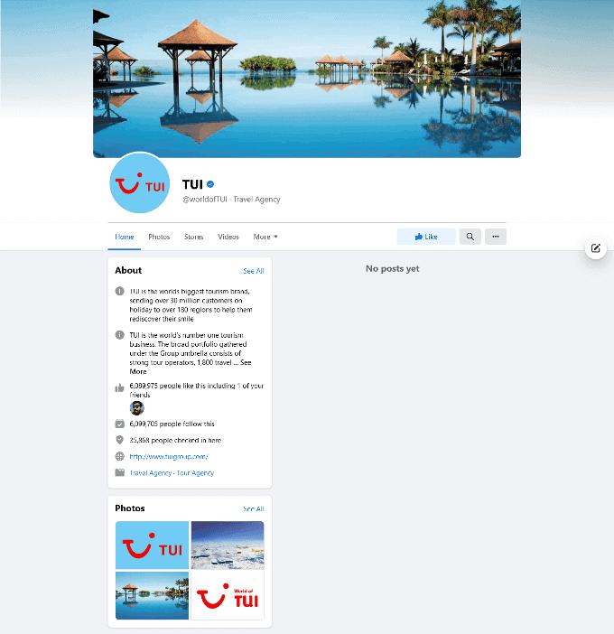 TUI Facebook Profile