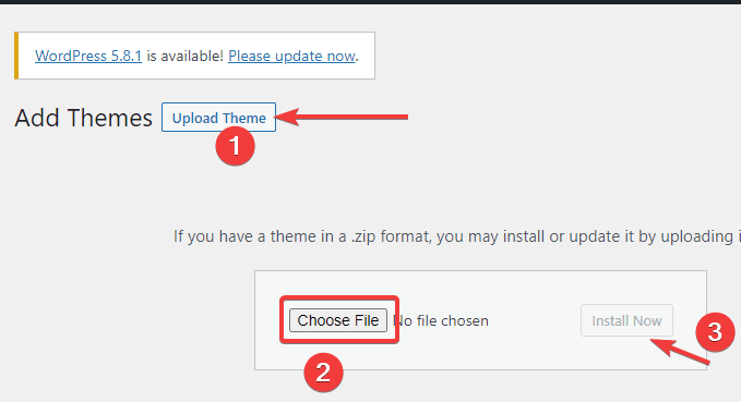 choose theme file