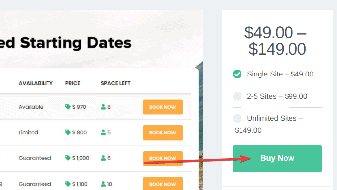 purchase trip fixed starting dates-extension