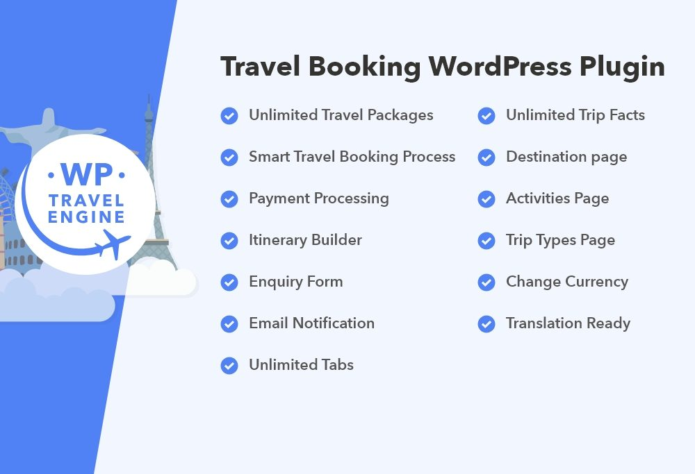 WP Travel Engine features