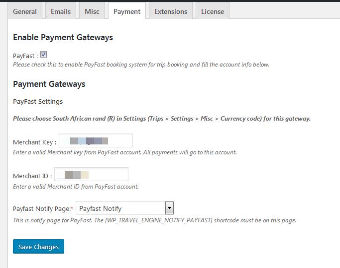 PayFast Payment Gateway Add-on Setup Documentation - WP
