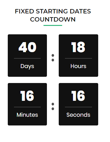 fixed starting dates countdown at the front end