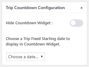 trip countdown configuration