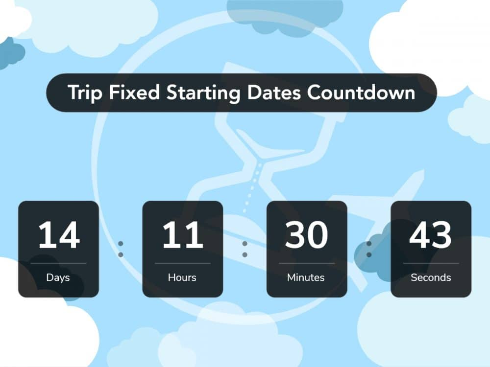 fixed starting dates countdown banner