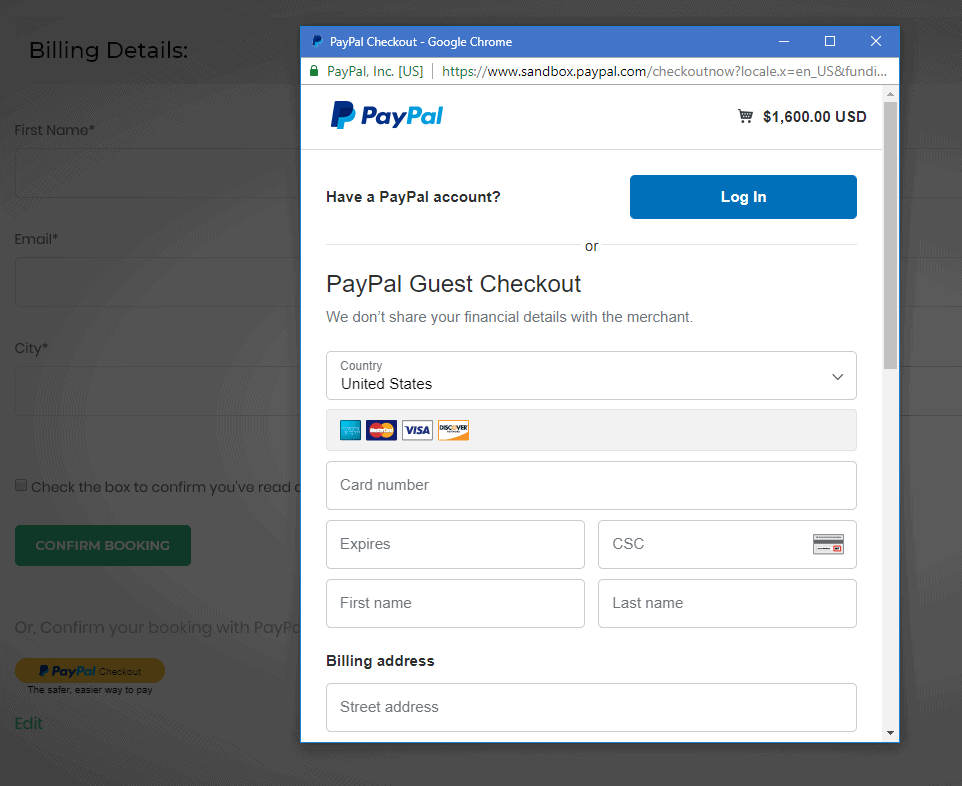 PayPal Express Checkout Payment Gateway - WP Travel Engine