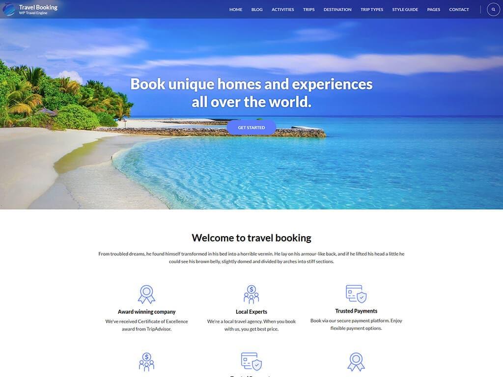 Travel Booking Free WordPress Theme: Download @ WP Travel Engine