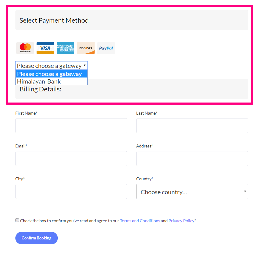 HBL Payment Option