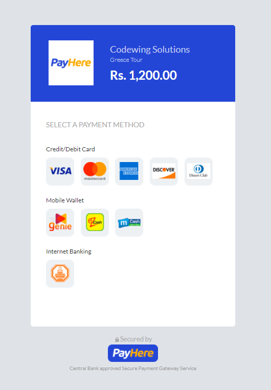 PayHere banner