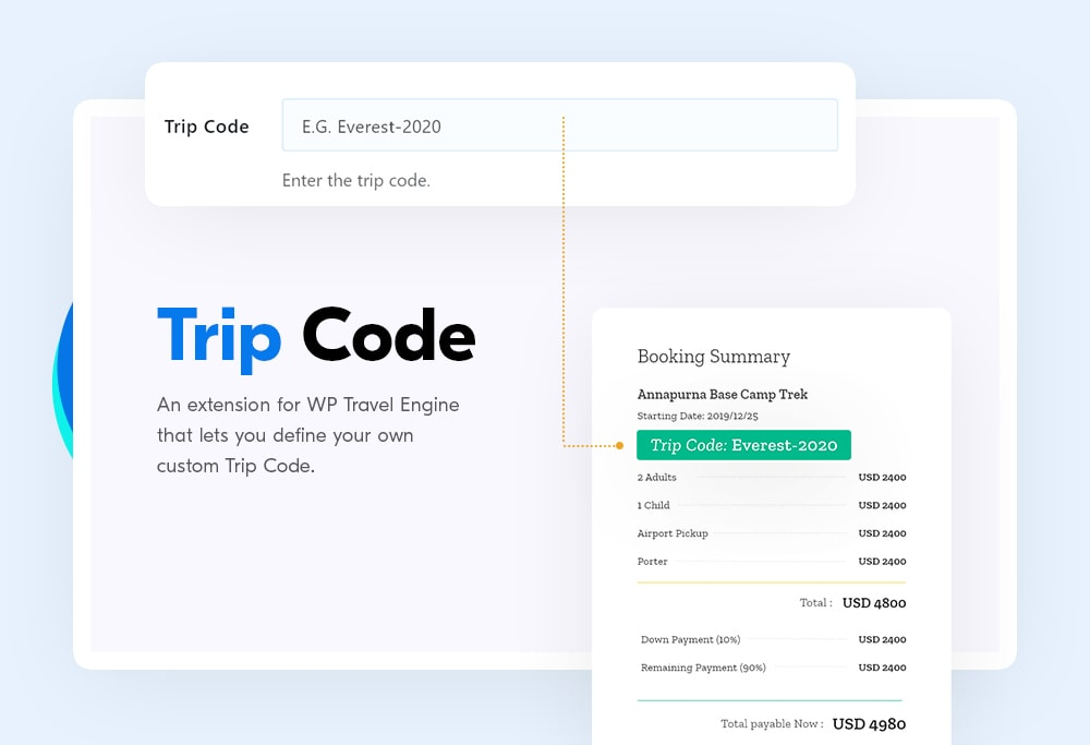 Trip code